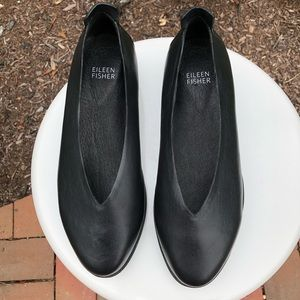 Eileen Fisher Shoes - Eileen Fisher Humor Flats Black Leather 6.5